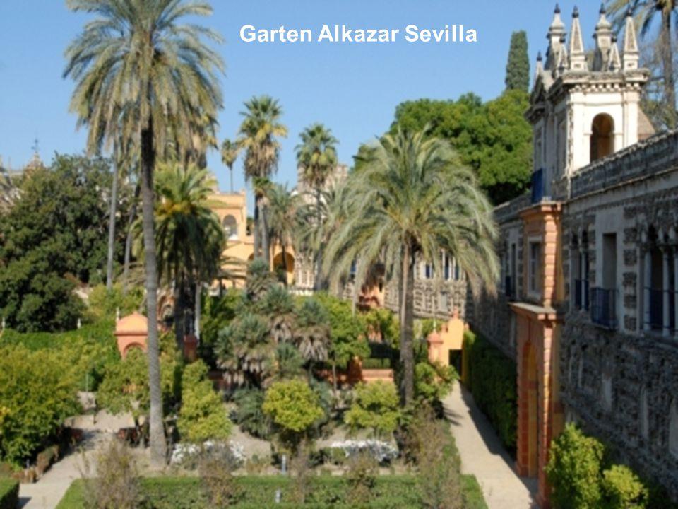 Garten Alkazar Sevilla