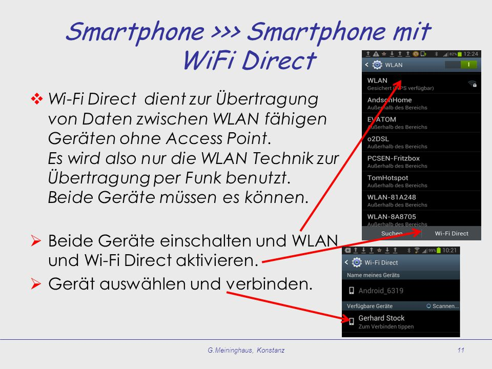Smartphone >>> Smartphone mit WiFi Direct