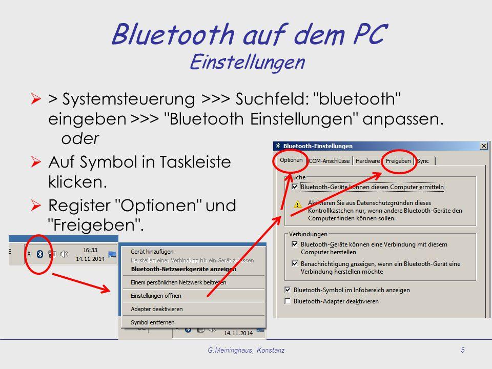 Bluetooth auf dem PC Einstellungen