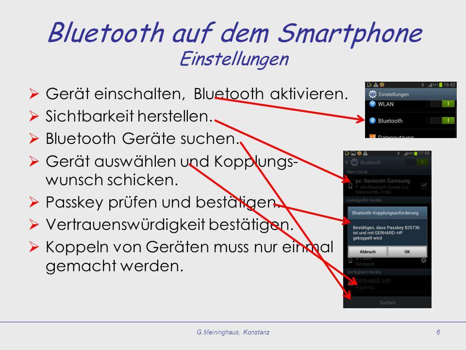 Bluetooth auf dem Smartphone Einstellungen
