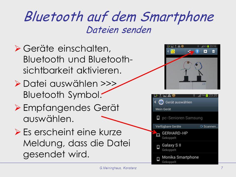Bluetooth auf dem Smartphone Dateien senden