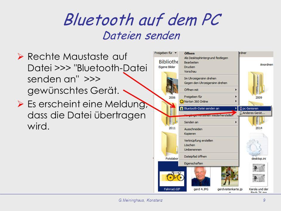 Bluetooth auf dem PC Dateien senden