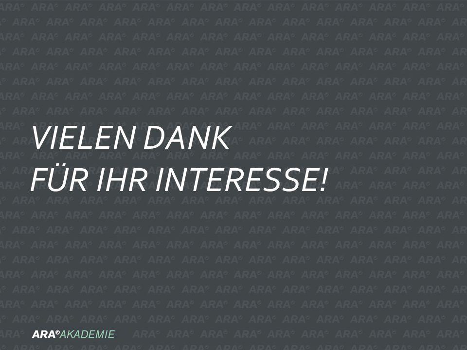 VIELEN DANK FÜR IHR INTERESSE!