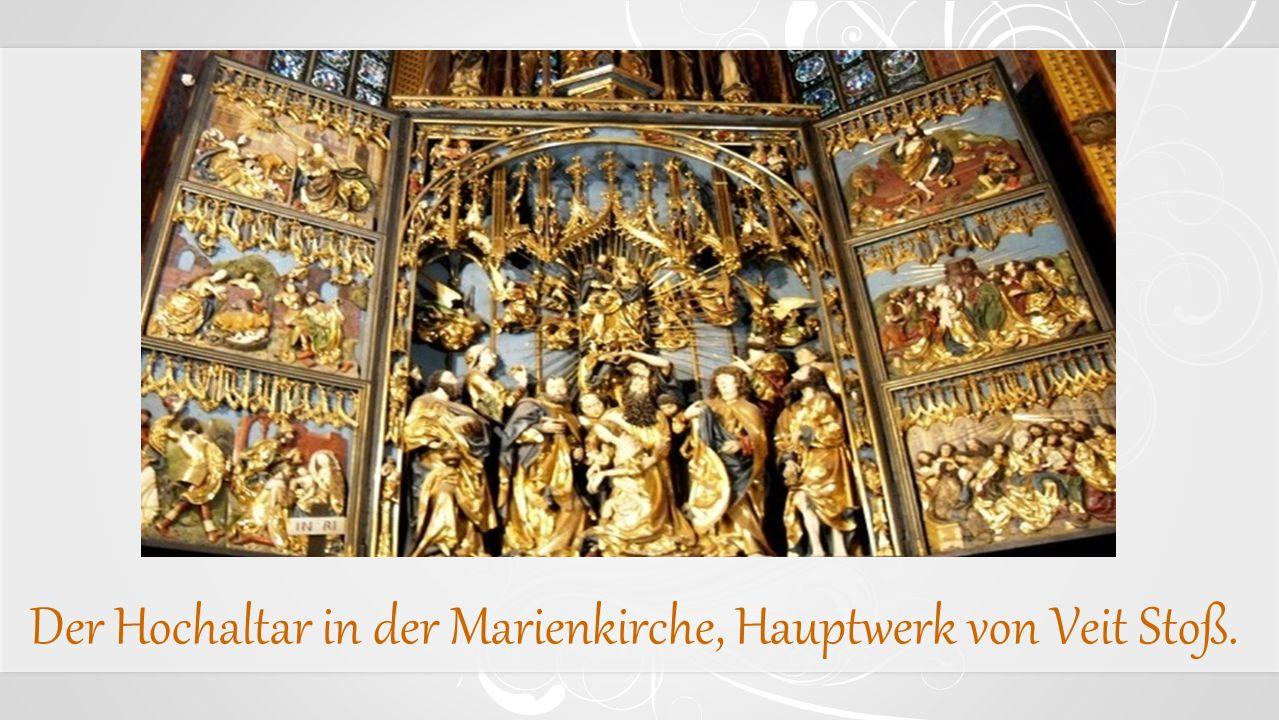 Der Hochaltar in der Marienkirche, Hauptwerk von Veit Stoß.