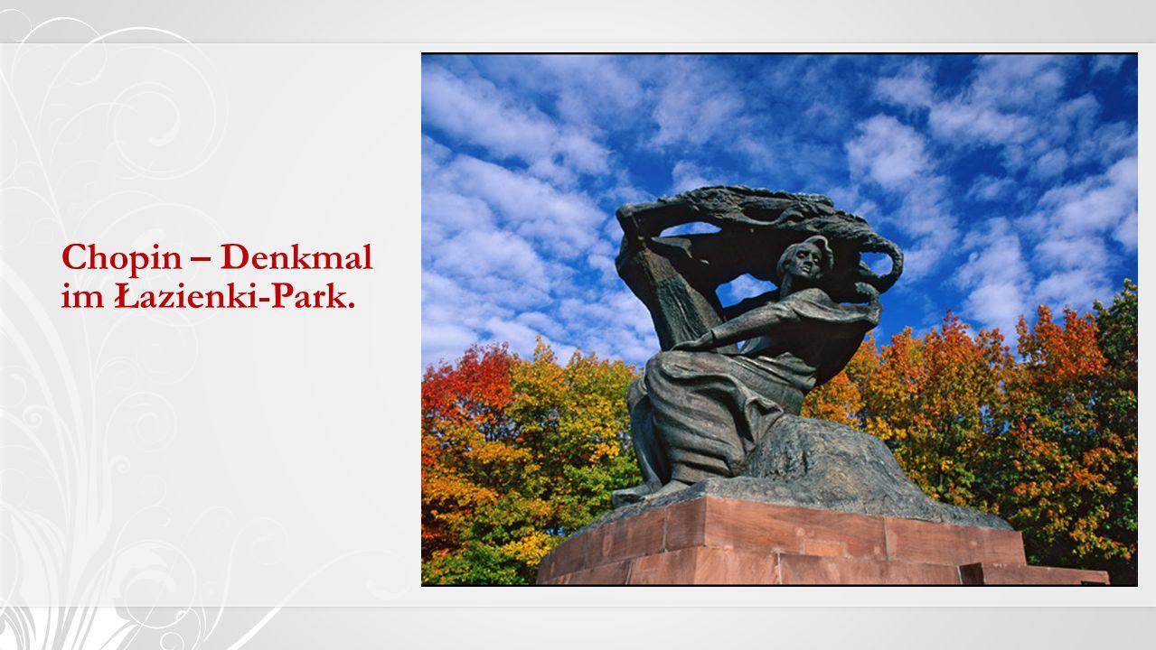 Chopin – Denkmal im Łazienki-Park.