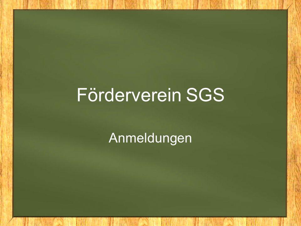 Förderverein SGS Anmeldungen