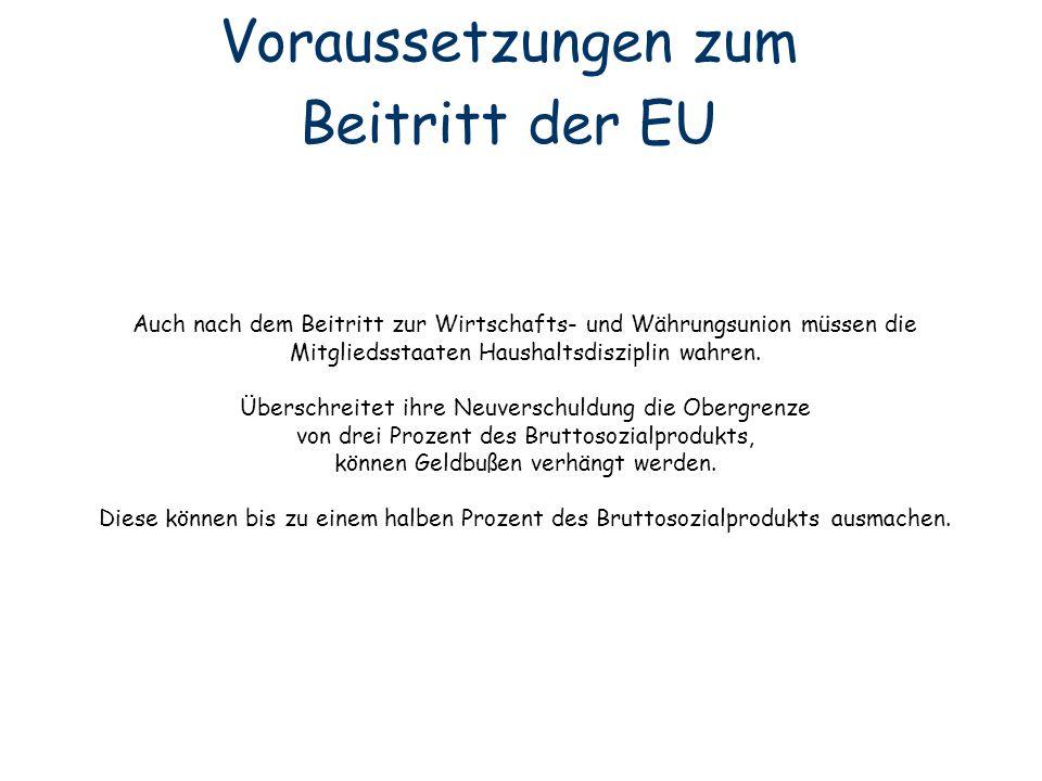 Voraussetzungen zum Beitritt der EU