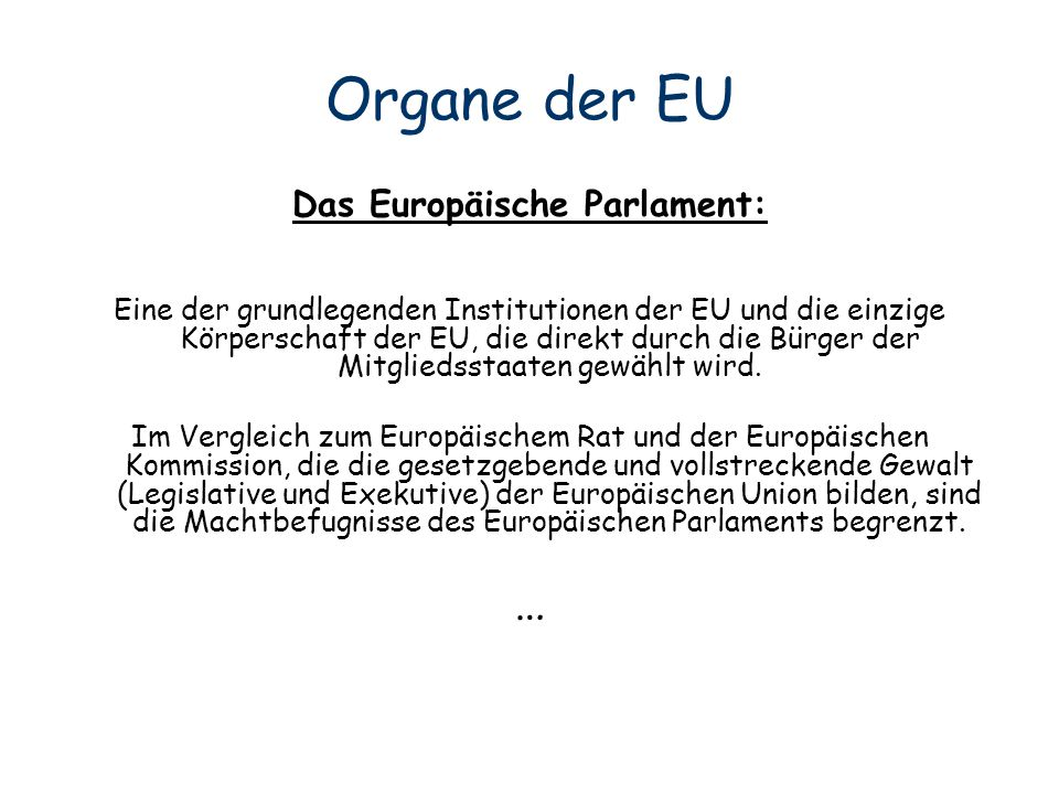 Das Europäische Parlament: