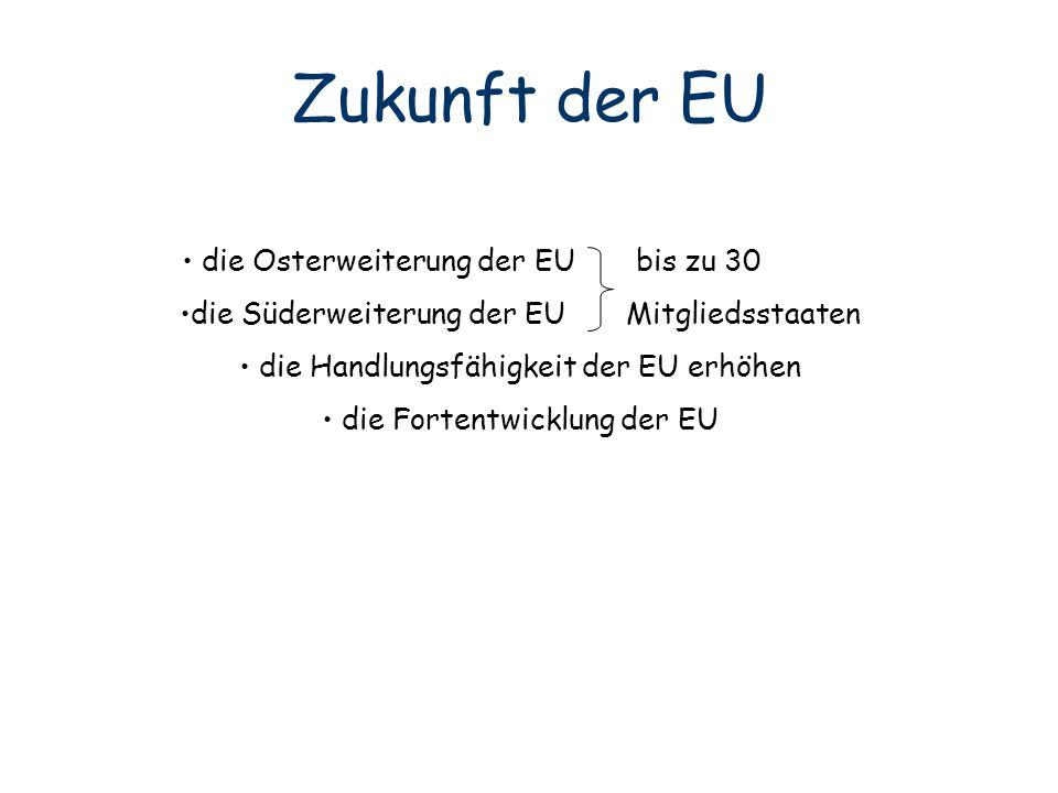 Zukunft der EU die Osterweiterung der EU bis zu 30 jh llkjl
