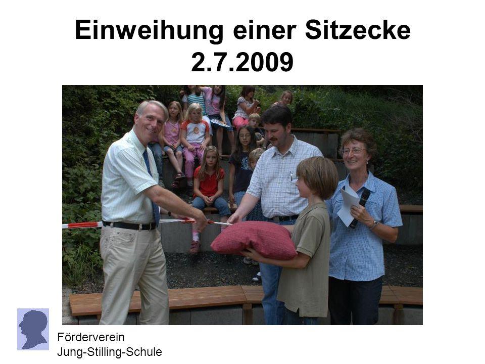 Einweihung einer Sitzecke 2.7.2009