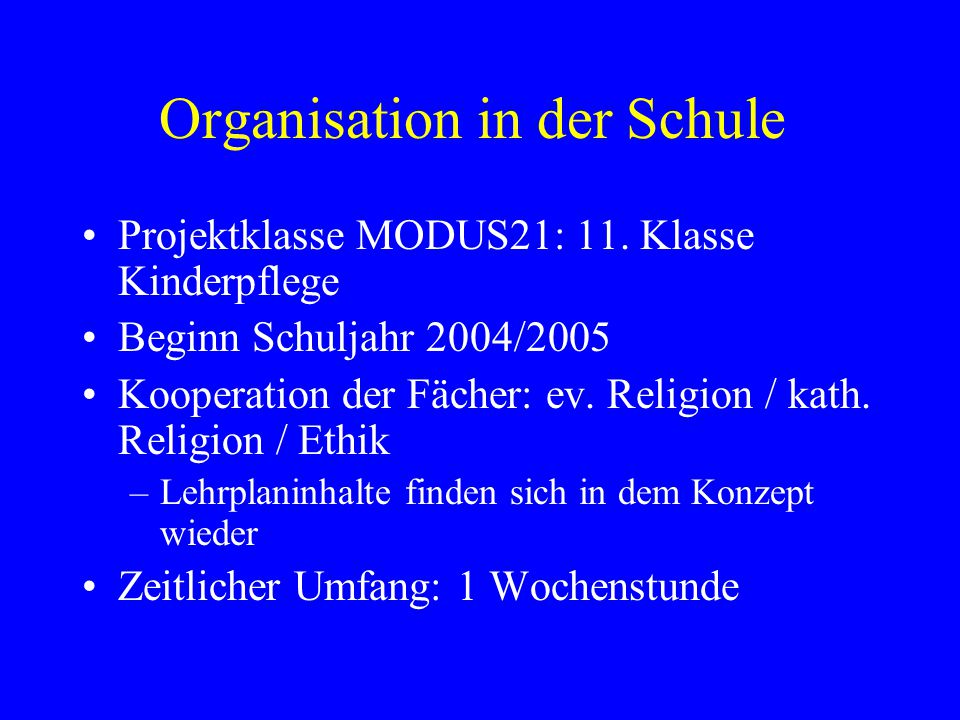 Organisation in der Schule