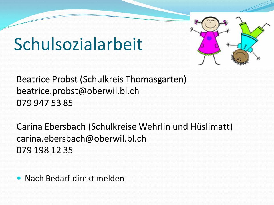 Schulsozialarbeit Beatrice Probst (Schulkreis Thomasgarten)