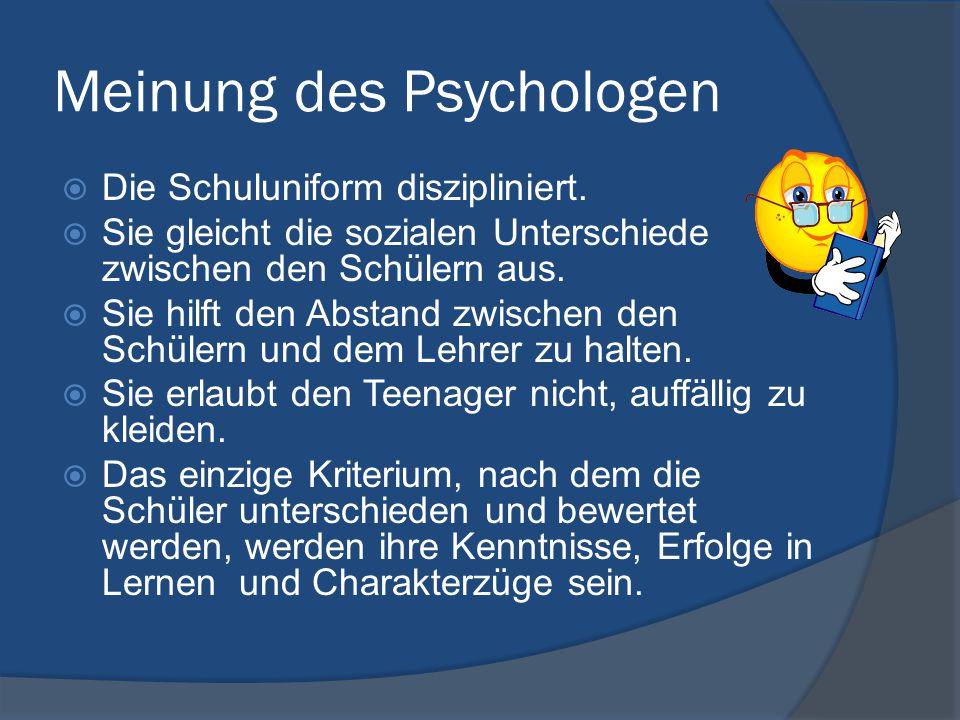 Meinung des Psychologen