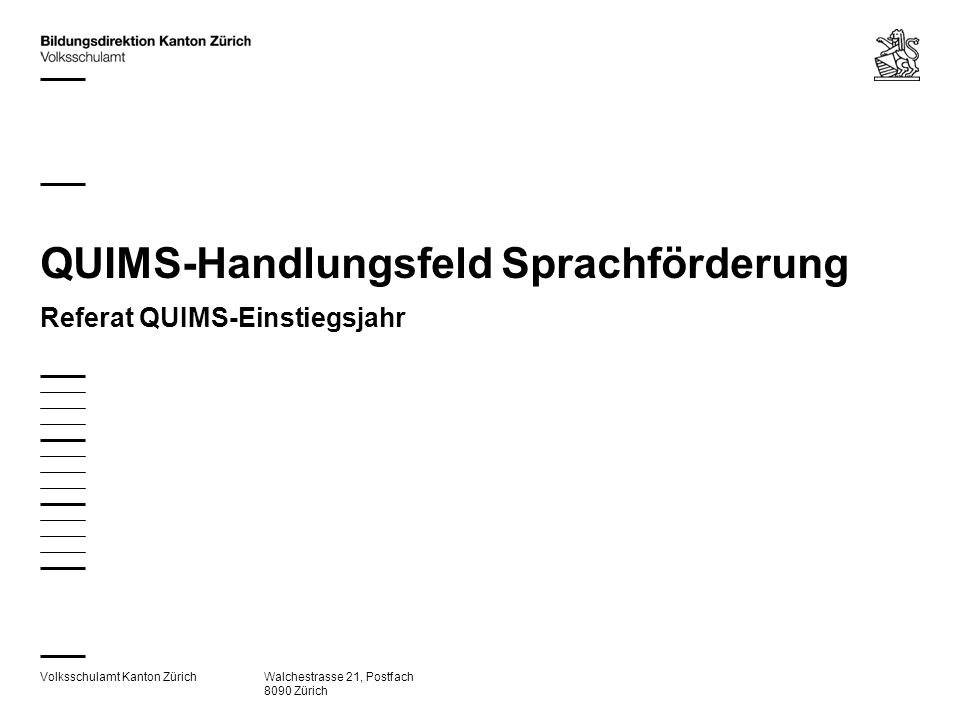 QUIMS-Handlungsfeld Sprachförderung
