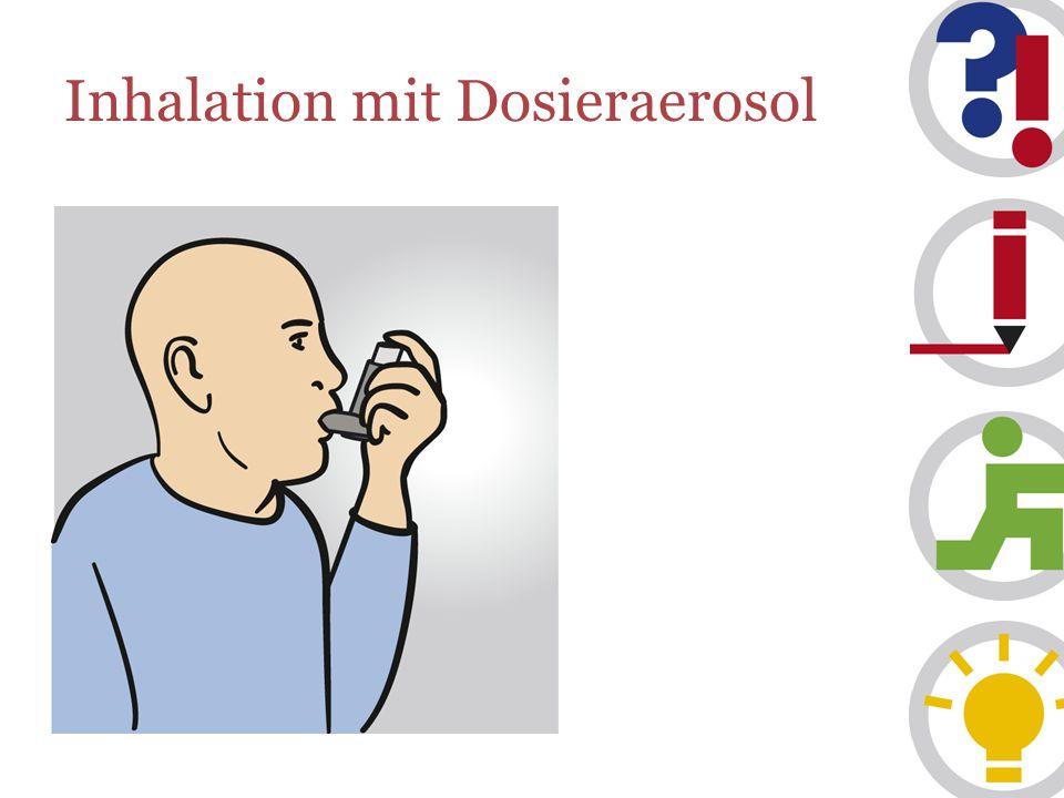 Inhalation mit Dosieraerosol