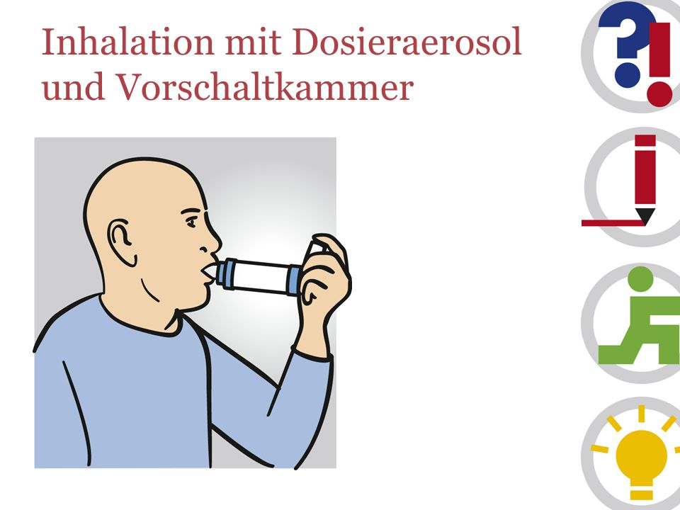 Inhalation mit Dosieraerosol und Vorschaltkammer