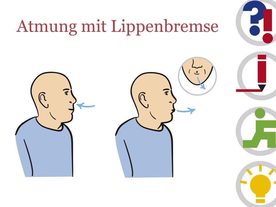 Atmung mit Lippenbremse