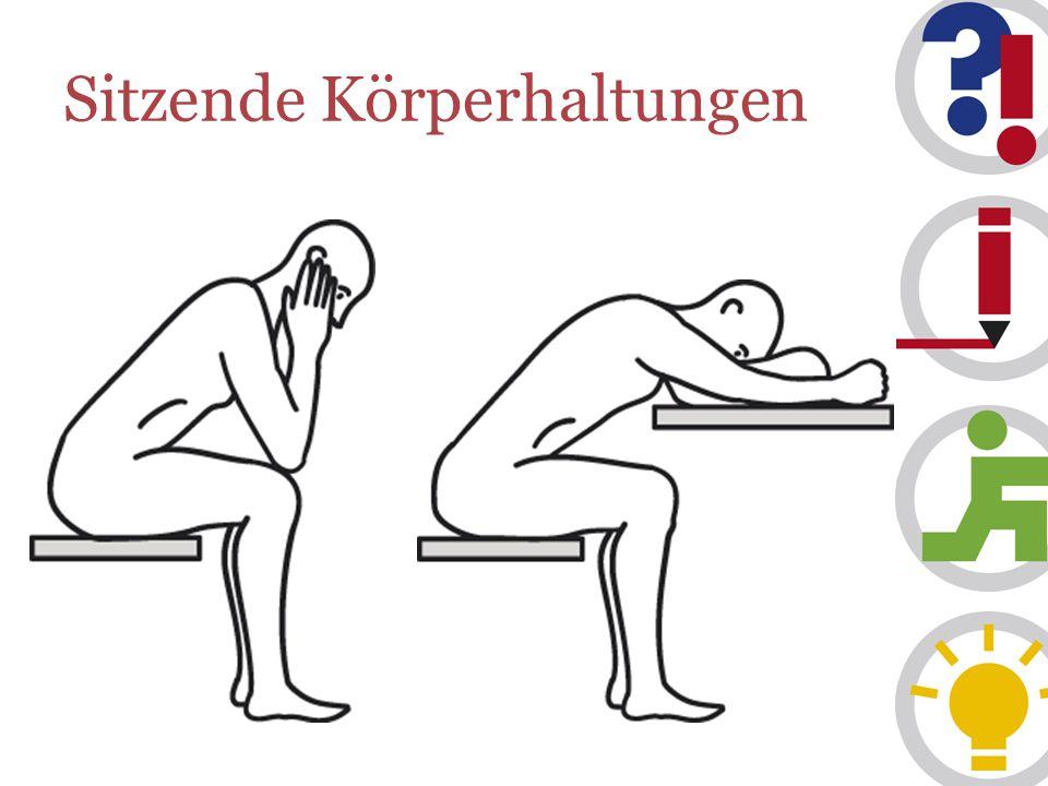Sitzende Körperhaltungen