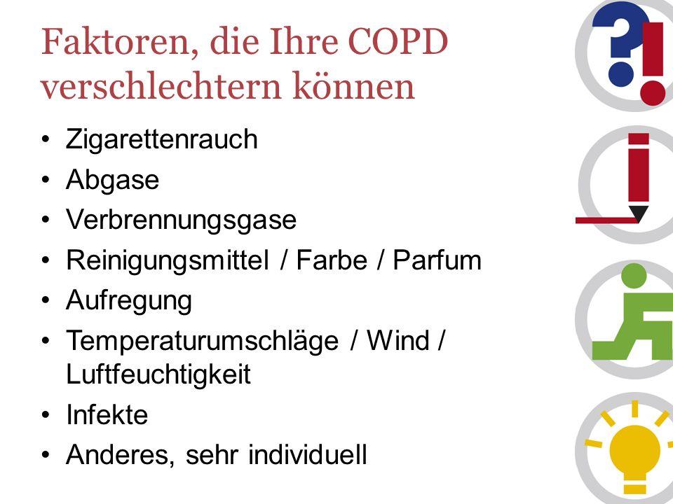 Faktoren, die Ihre COPD verschlechtern können