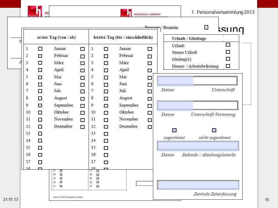 Urlaubsmeldebogen/Formular Zeiterfassung