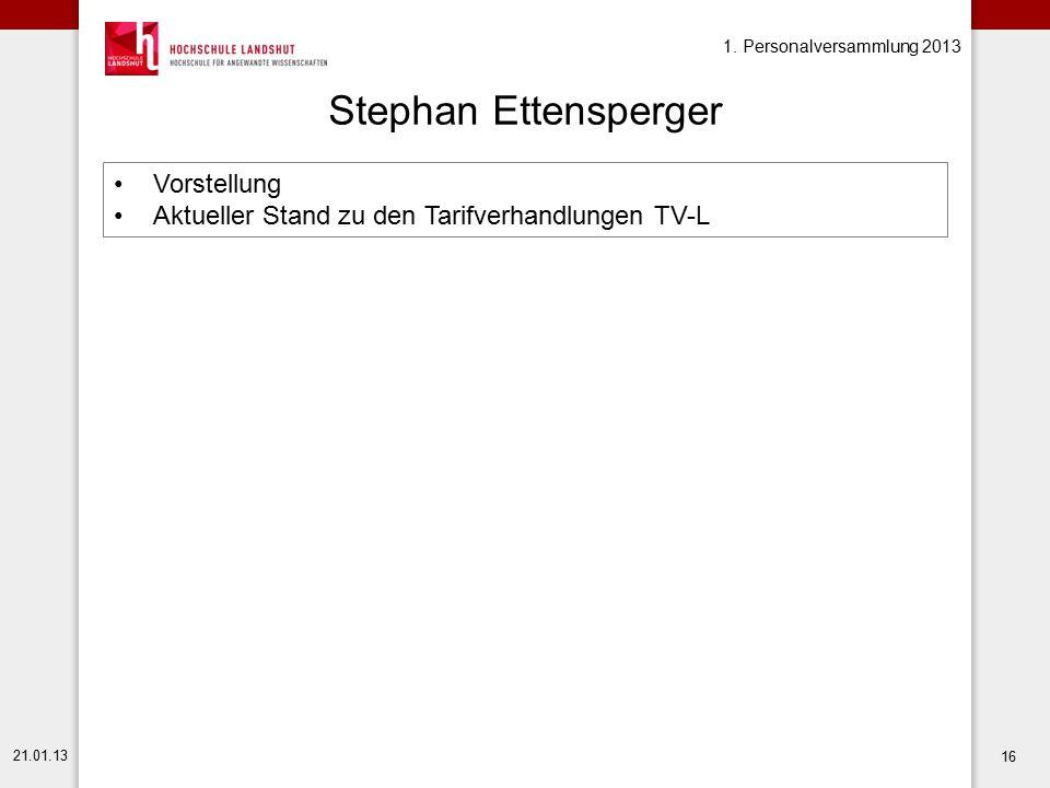 Stephan Ettensperger Vorstellung