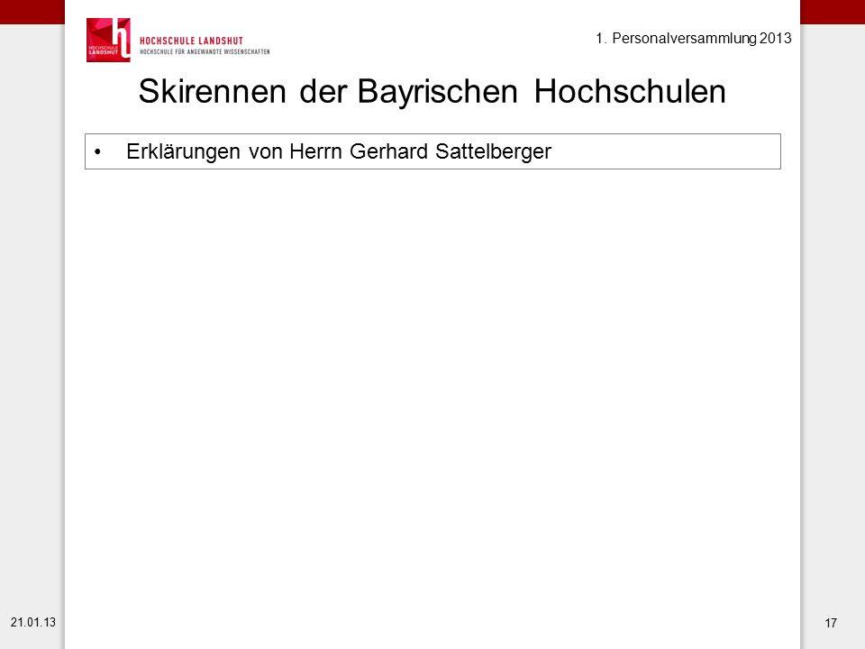 Skirennen der Bayrischen Hochschulen