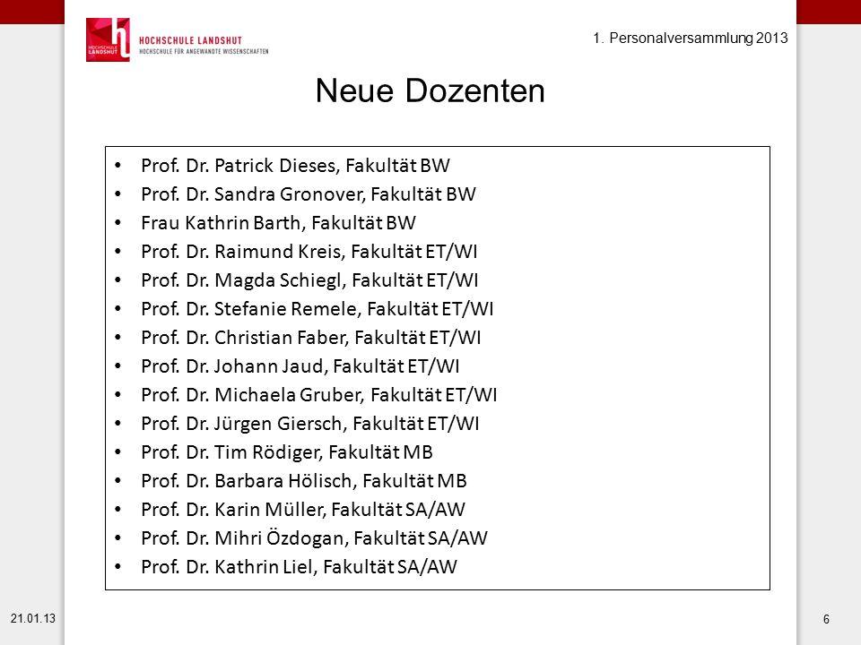 Neue Dozenten Prof. Dr. Patrick Dieses, Fakultät BW