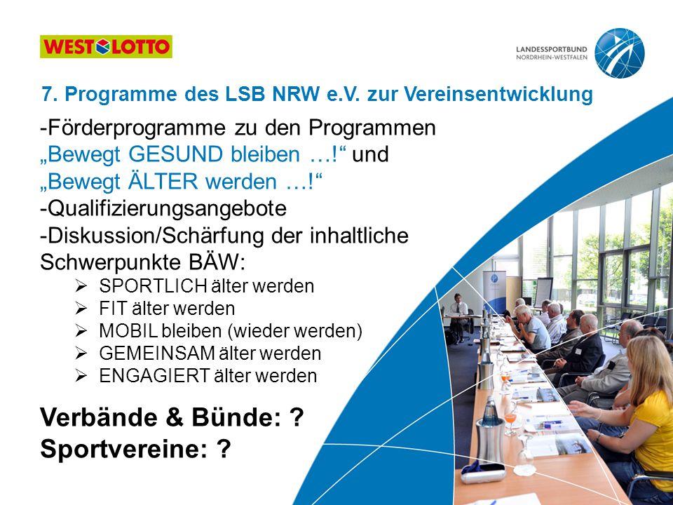 Verbände & Bünde: Sportvereine: