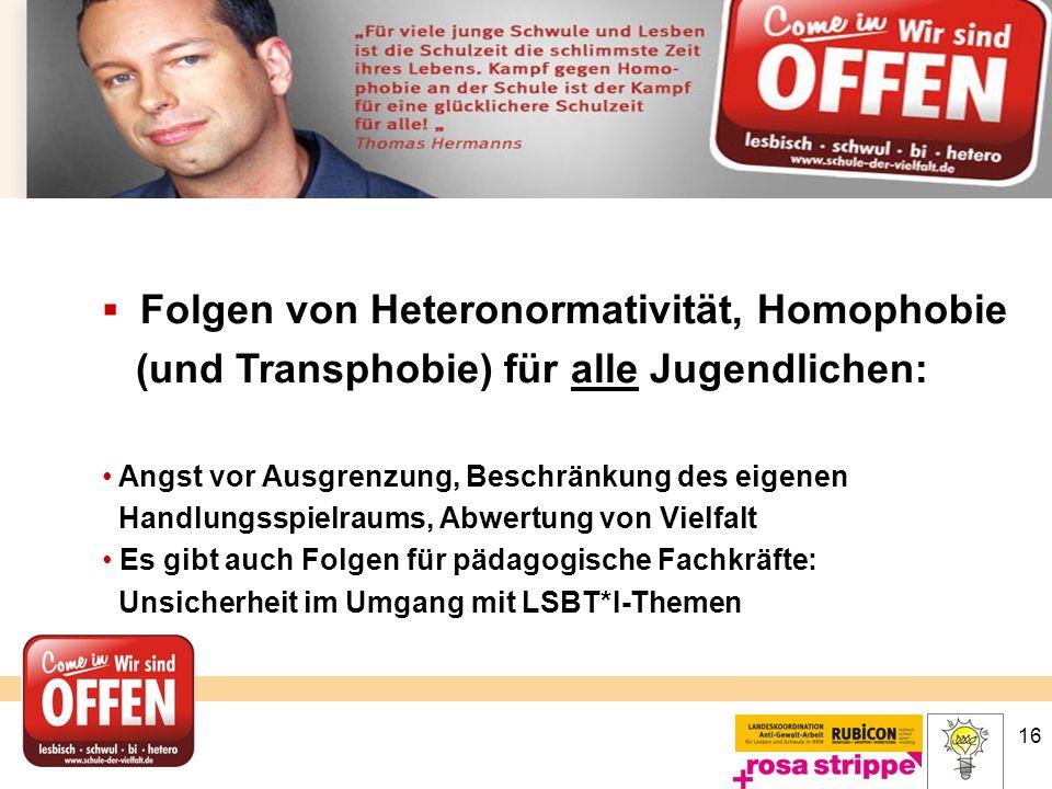 (und Transphobie) für alle Jugendlichen: