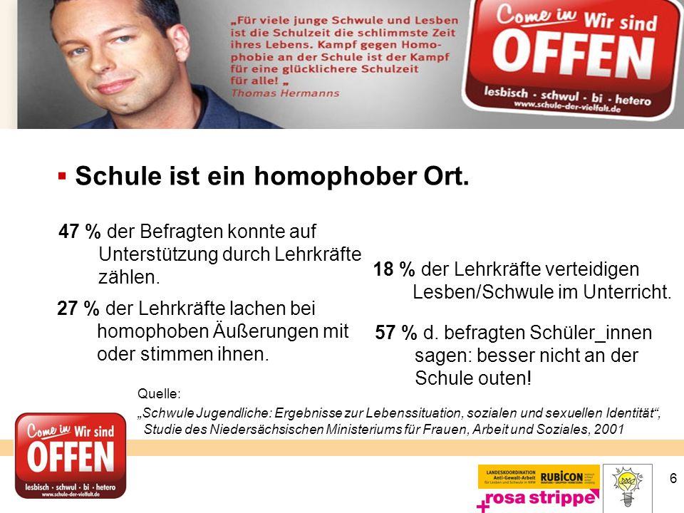 Schule ist ein homophober Ort.