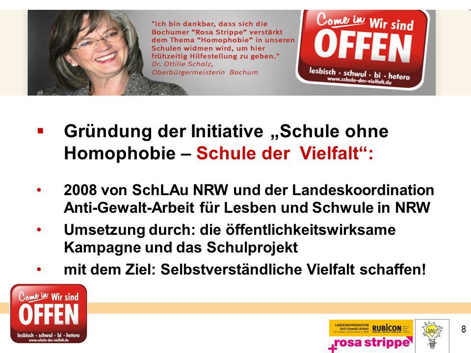 """Gründung der Initiative """"Schule ohne Homophobie – Schule der Vielfalt :"""