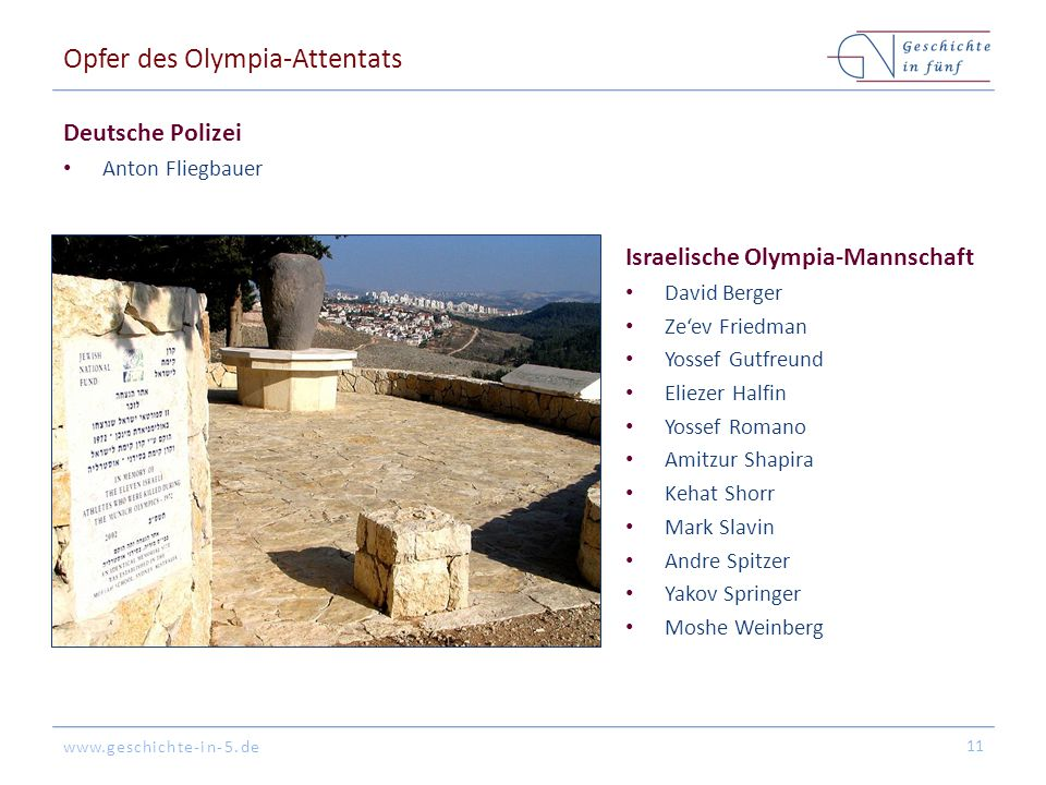 Opfer des Olympia-Attentats