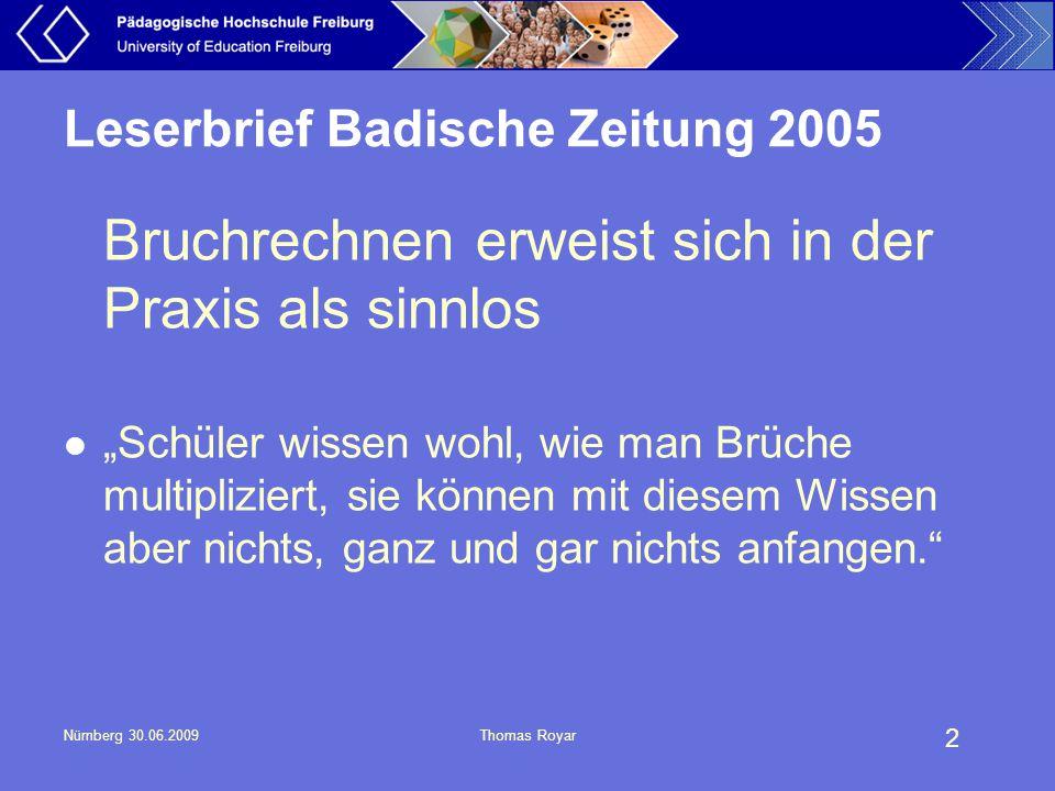 Leserbrief Badische Zeitung 2005
