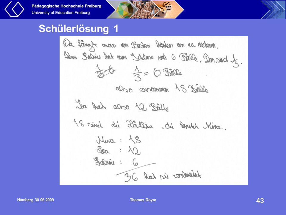 Schülerlösung 1 Nürnberg 30.06.2009 Thomas Royar