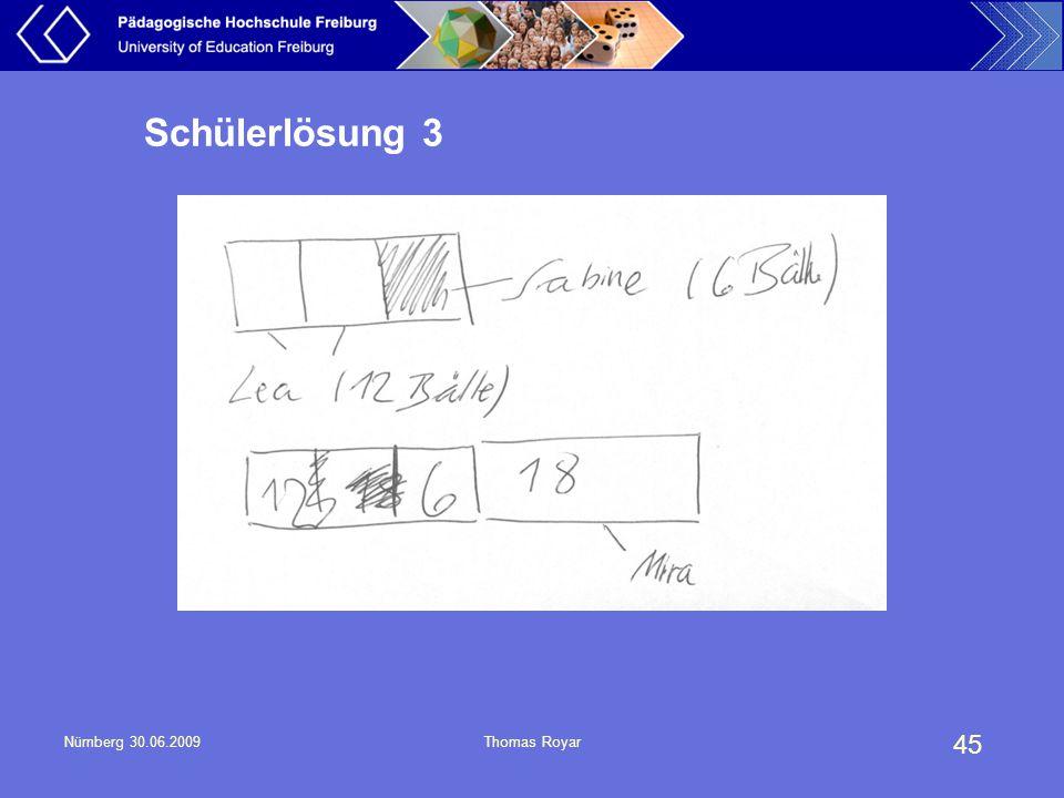 Schülerlösung 3 Nürnberg 30.06.2009 Thomas Royar