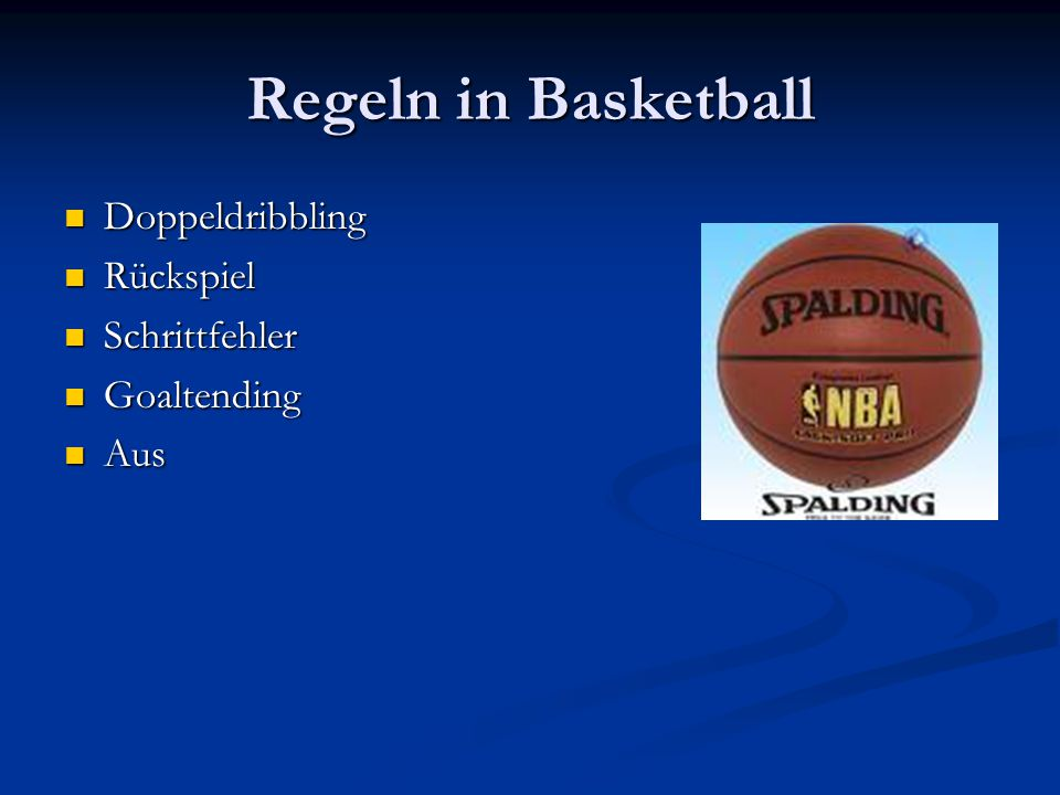 Regeln in Basketball Doppeldribbling Rückspiel Schrittfehler
