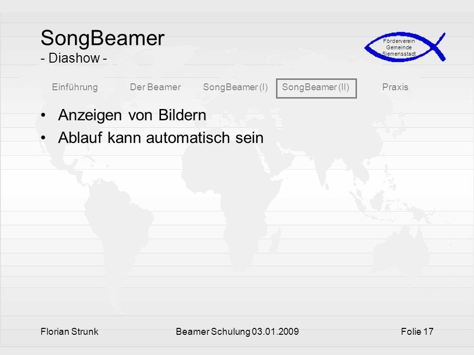 SongBeamer - Diashow - Anzeigen von Bildern