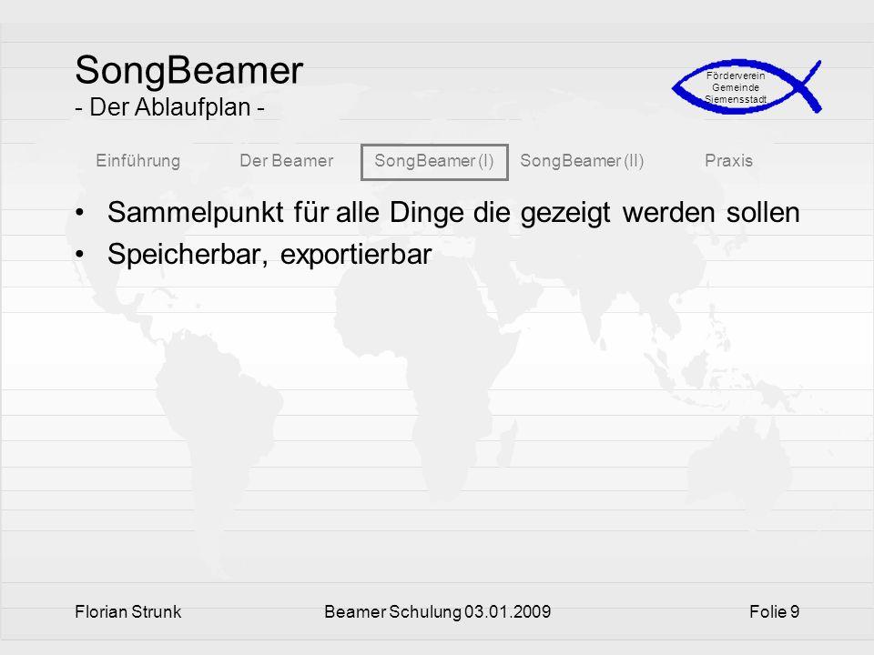 SongBeamer - Der Ablaufplan -