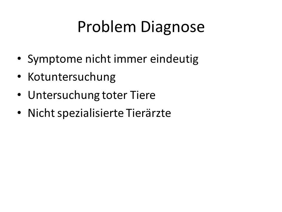 Problem Diagnose Symptome nicht immer eindeutig Kotuntersuchung