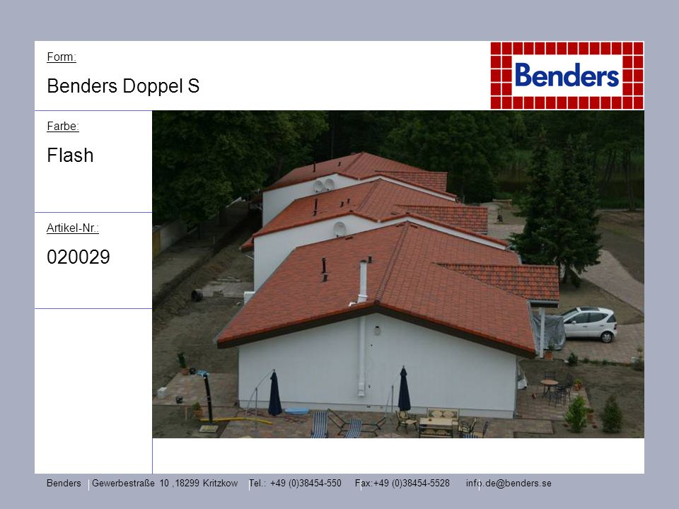 Benders Doppel S Flash 020029 Form: Farbe: Artikel-Nr.: