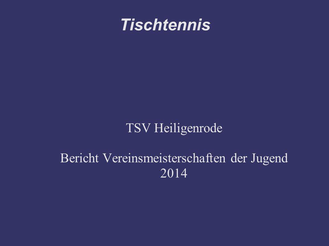 TSV Heiligenrode Bericht Vereinsmeisterschaften der Jugend 2014