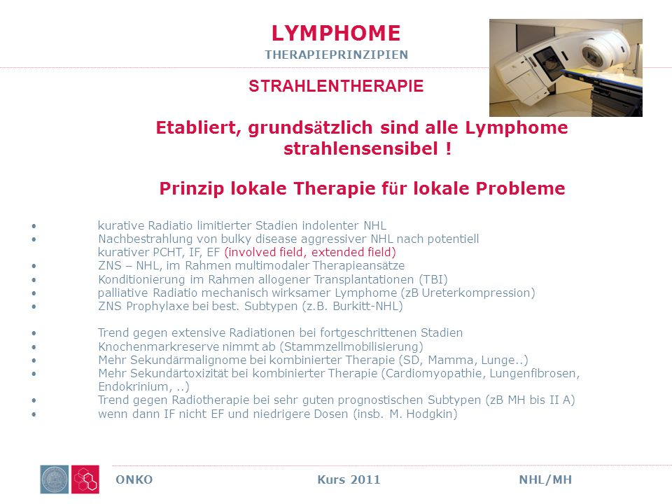 LYMPHOME THERAPIEPRINZIPIEN