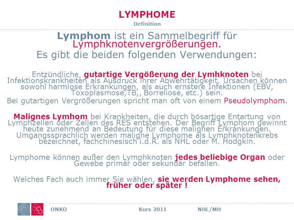 Lymphom ist ein Sammelbegriff für Lymphknotenvergrößerungen.