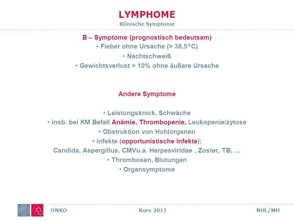 LYMPHOME Klinische Symptome