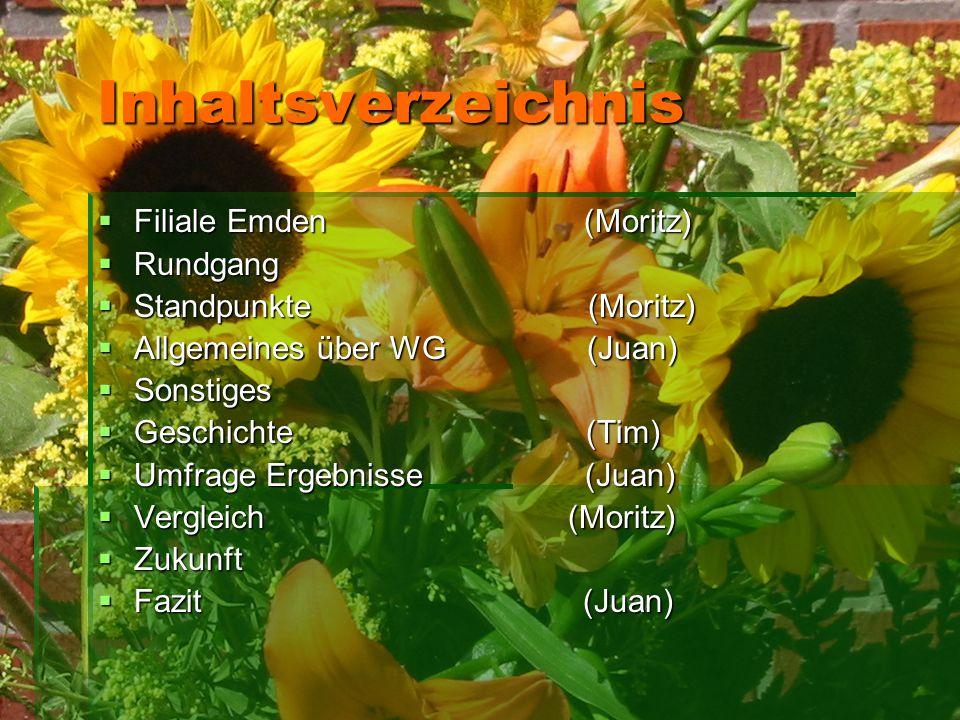 Inhaltsverzeichnis Filiale Emden (Moritz) Rundgang