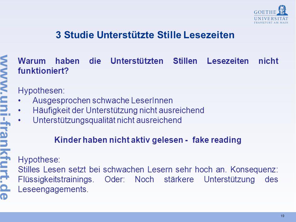 3 Studie Unterstützte Stille Lesezeiten