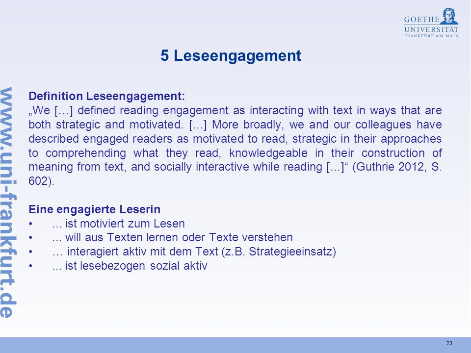 5 Leseengagement Definition Leseengagement: