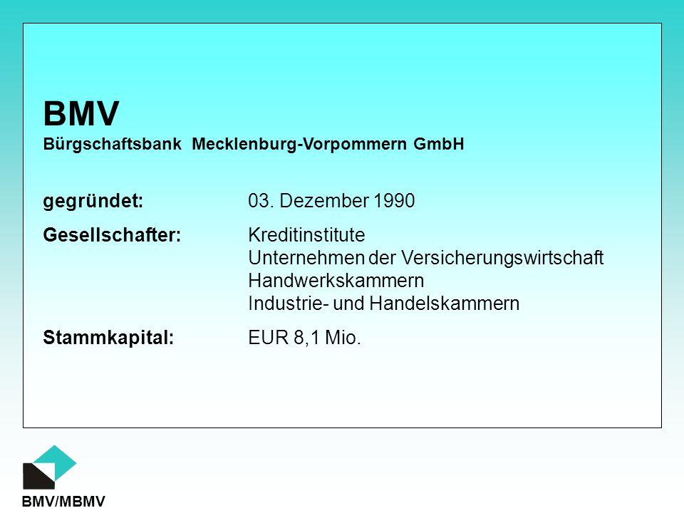 BMV gegründet: 03. Dezember 1990 Gesellschafter: Kreditinstitute