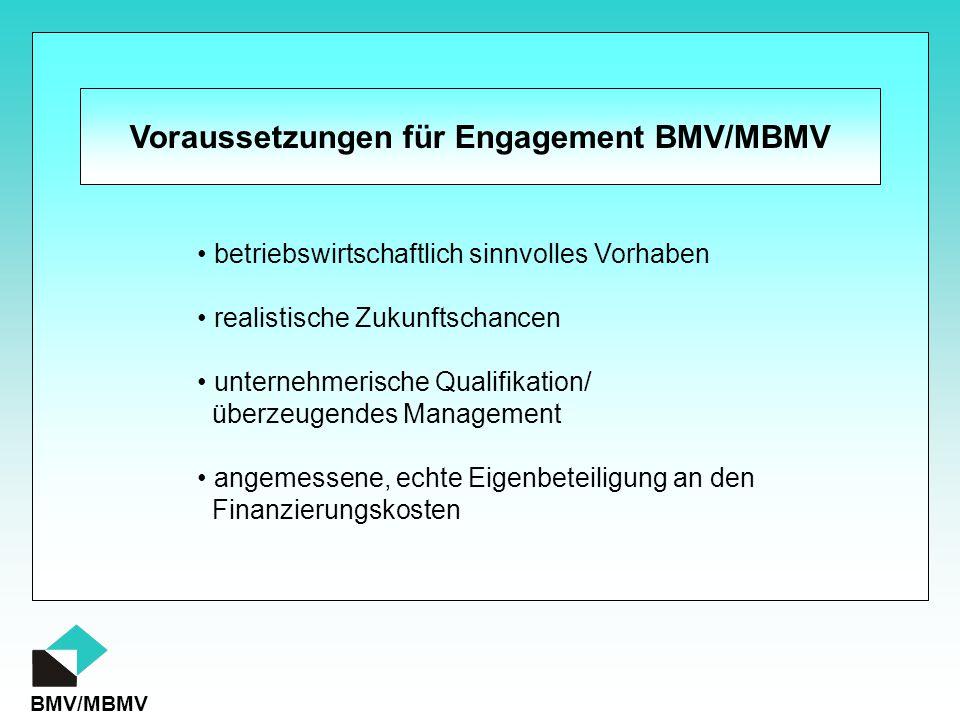 Voraussetzungen für Engagement BMV/MBMV