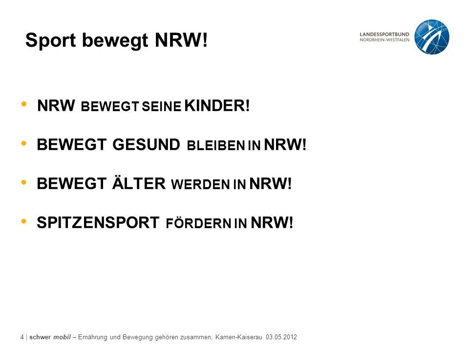 Sport bewegt NRW! NRW BEWEGT SEINE KINDER!